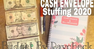 INCONSISTENT INCOME CASH ENVELOPE STUFFING | Budget By Paycheck 3