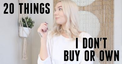 20 THINGS I STOPPED BUYING   minimalism & saving money 3