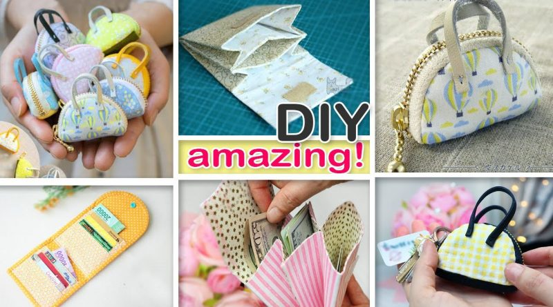 MUCH WAITING DIYs Mini Pouch Bag Coins Money Holder Mini Bag Ideas Easy To Make 2