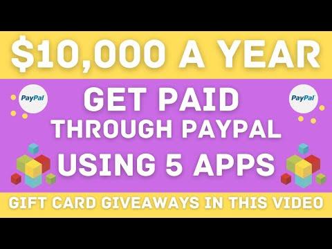 Make $10,000 A YEAR Using 5 Apps - Worldwide PayPal Money!! (Make Money Online) 1