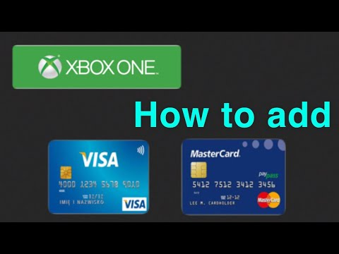 XBOX ONE How to add a Credit/Debit Card NEW! 1