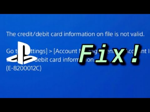 """PS4 """"The credit/debit card information on file is not valid."""" ERROR CODE FIX! 9"""