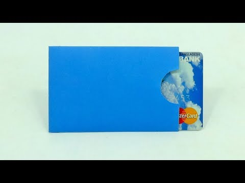 How To Make Paper Credit Card Holder | DIY Credit/Debit Card Sleeve Making With Paper 3